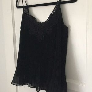 Zara Woman Black Lace Going Out Date Night Top XS